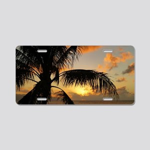 Sunset North Shore Oahu Aluminum License Plate