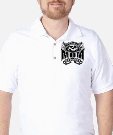 Don't mess with mom Golf Shirt