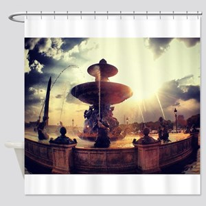 PARIS Concorde place fountain Shower Curtain