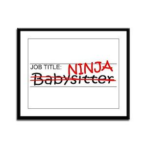 Job Ninja Babysitter Framed Panel Print