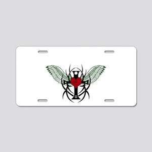 Love Flys into a Heart Aluminum License Plate