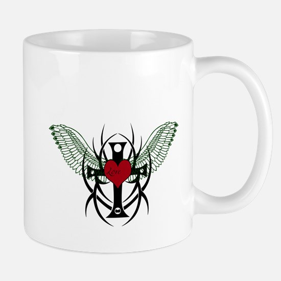 Love Flys into a Heart Mug