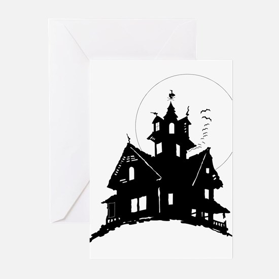 haunted house Greeting Cards (Pk of 20)