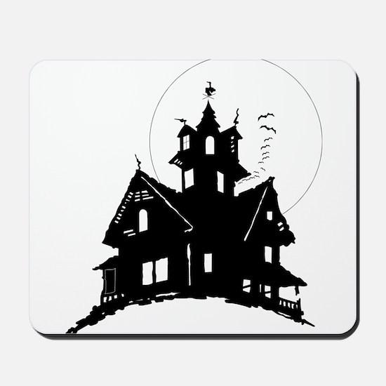 haunted house Mousepad