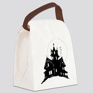 haunted house Canvas Lunch Bag