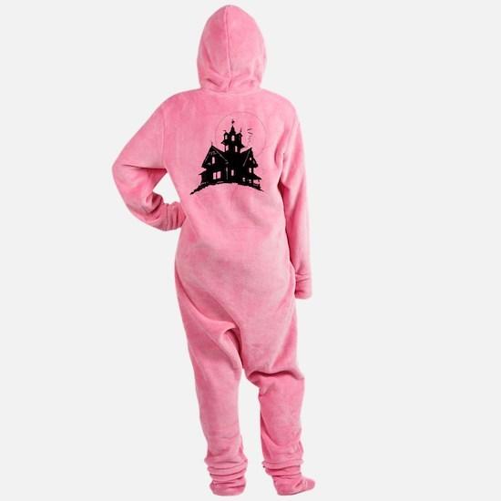 haunted house Footed Pajamas