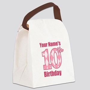 Pink Argyle 10th Birthday - Personalized! Canvas L