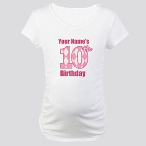 Pink Argyle 10th Birthday - Personalized! Maternit