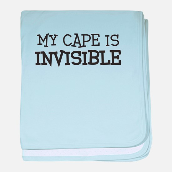 my cape is invisible kids baby blanket