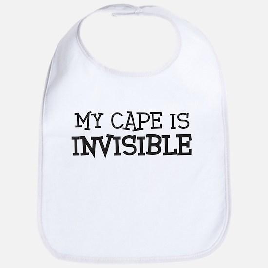 my cape is invisible kids Bib