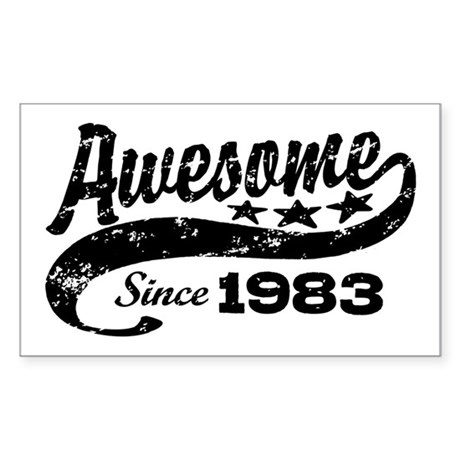 Awesome Since 1983 Sticker (Rectangle)