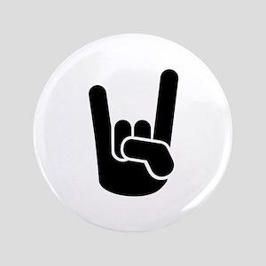 "Rock Metal Hand 3.5"" Button"