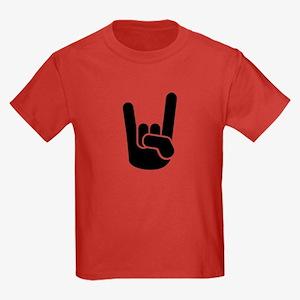 Rock Metal Hand Kids Dark T-Shirt