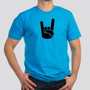 Rock Metal Hand Men's Fitted T-Shirt (dark)