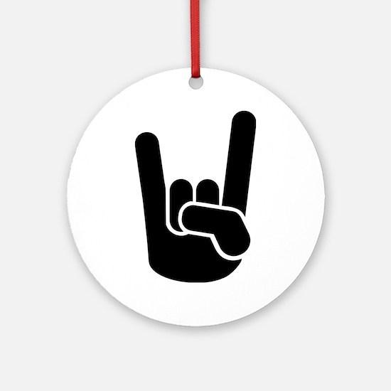 Rock Metal Hand Ornament (Round)