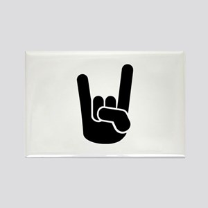 Rock Metal Hand Rectangle Magnet