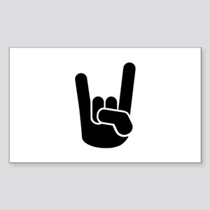 Rock Metal Hand Sticker (Rectangle)
