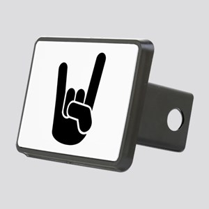 Rock Metal Hand Rectangular Hitch Cover