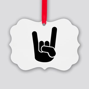 Rock Metal Hand Picture Ornament