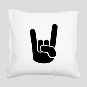 Rock Metal Hand Square Canvas Pillow