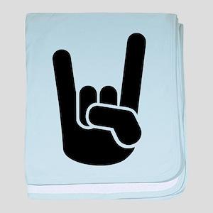 Rock Metal Hand baby blanket