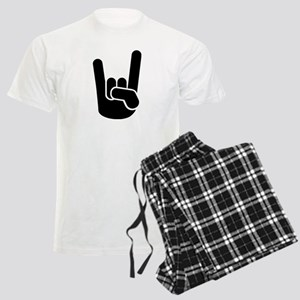 Rock Metal Hand Men's Light Pajamas