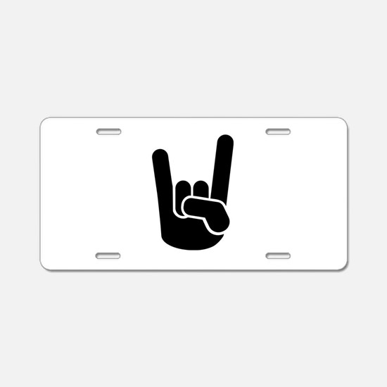Rock Metal Hand Aluminum License Plate