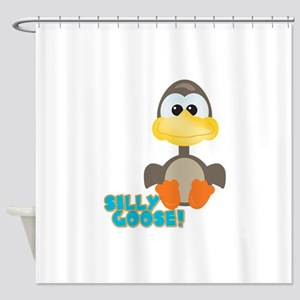 silly goose Shower Curtain