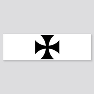 Black iron cross Sticker (Bumper)