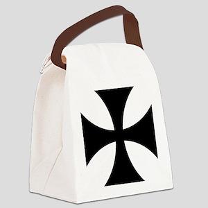 Black iron cross Canvas Lunch Bag