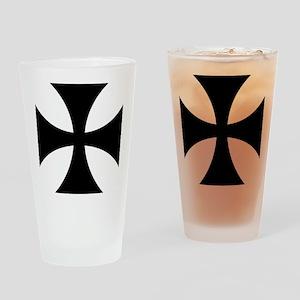 Black iron cross Drinking Glass