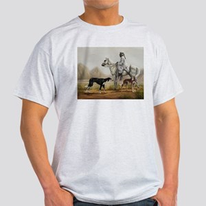 Arabian Bedouin Hunting with Two Salukis T-Shirt