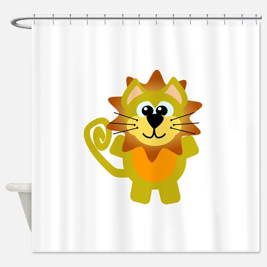 lion.png Shower Curtain