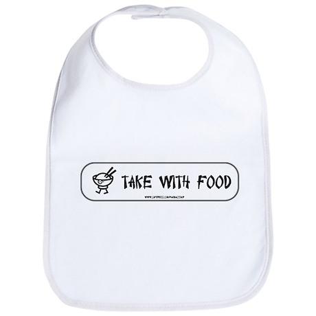 Take with food Bib