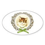 Vintage cute kitten Sticker