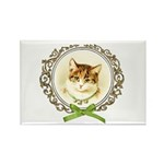 Vintage cute kitten Rectangle Magnet (100 pack)