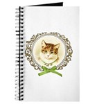 Vintage cute kitten Journal