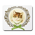 Vintage cute kitten Mousepad