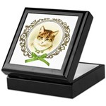 Vintage cute kitten Keepsake Box