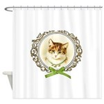 Vintage cute kitten Shower Curtain