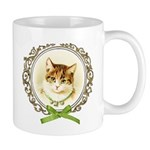 Vintage cute kitten Small Mug