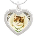 Vintage cute kitten Necklaces