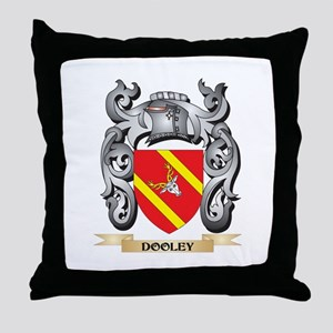 Dooley Coat of Arms - Family Crest Throw Pillow