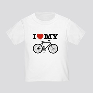 I Love My Bicycle Toddler T-Shirt