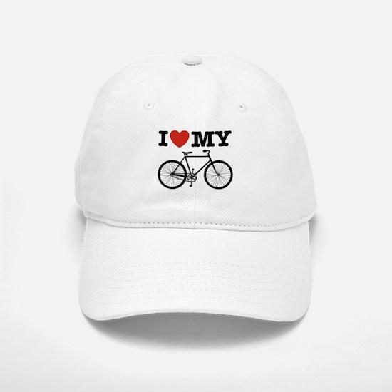 I Love My Bicycle Baseball Baseball Cap