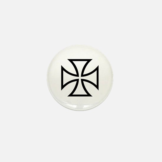 Black iron cross Mini Button