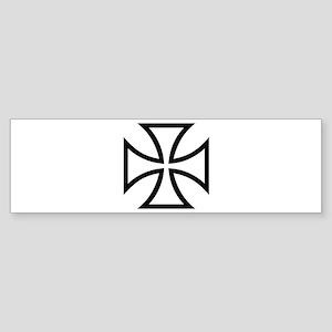 Black iron cross Sticker (Bumper)