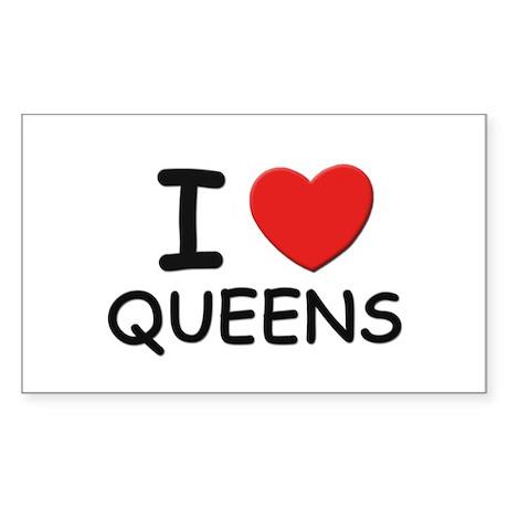I love queens Rectangle Sticker