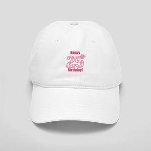 4a64e6da541 Happy 25th Birthday - Pink Argyle Baseball Cap