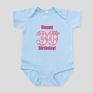 Happy 30th Birthday - Pink Argyle Body Suit